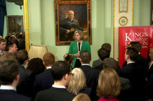Theresa May addresses the Association