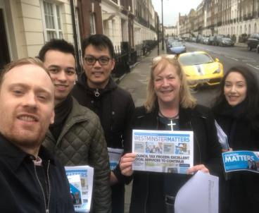 Canvassing in Westminster!