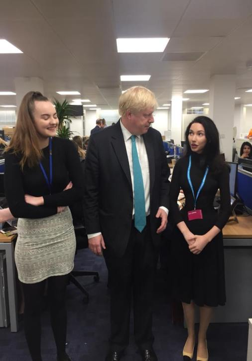 Our President and Social Sec with Boris Johnson!
